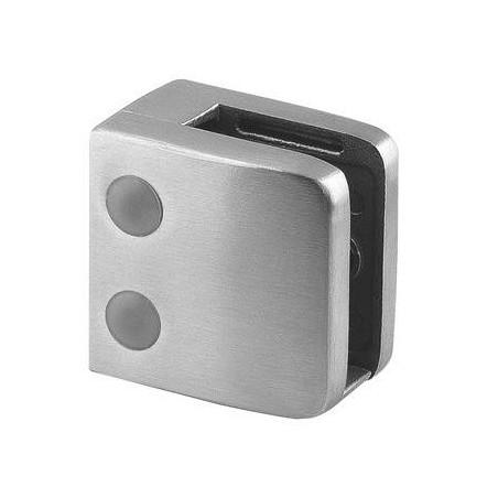 Pinza para vidrio mod 26 para tubo plano en acero Inox. AISI 304 y 316