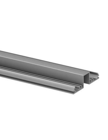 Perfil Superior de aluminio 5000mm para vidrio 5951