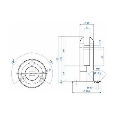 Plano Pinza para vidrio E2000500
