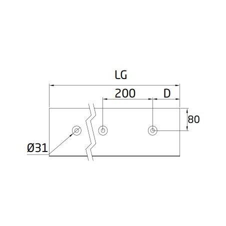 "Plano Perfil en ""U"" GlassFit Flow SV-1802 Side"
