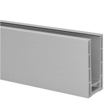 Perfil para la barandilla de vidrio a suelo Easy Glass Prime de montaje lateral 5000mm tramo en recto