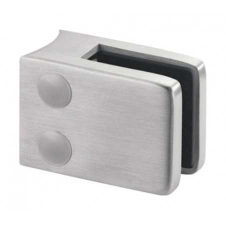 Pinza para vidrio con gomas mod 42 acero inox AISI304/316 para tubo redondo - Qrailing