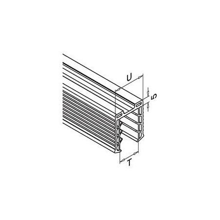 Plano Perfil en U 6940 de acero inoxidable para vidrio - Qrailing