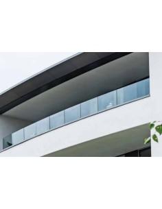 Kit Barandilla de vidrio a suelo Easy Glass Prime de montaje lateral 5000mm tramo en recto