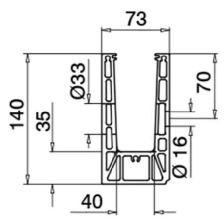 Plano Kit Barandilla de vidrio a suelo, Easy Glass Prime, montaje lateral 5000mm tramo en recto - Qrailing