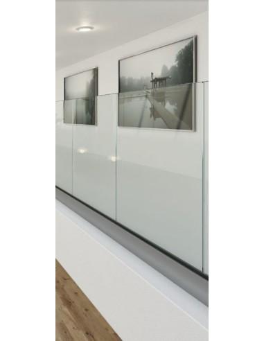 Kit Barandilla de vidrio a suelo, Easy Glass Prime, montaje lateral 5000mm tramo en recto - Qrailing