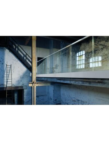 Kit Barandilla de vidrio a suelo,...