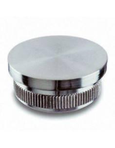 Tapón de acero inoxidable en AISI 304 de D42,4mm. Terminación en plano.