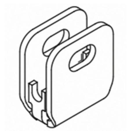 Concepto Pinza para unir malla lado superior e inferior 7810 - Qrailing