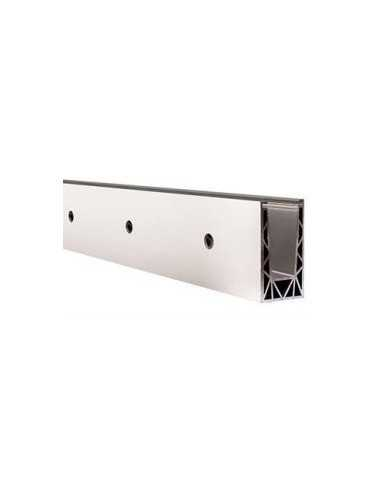 Perfil de suelo montaje lateral para sistema de barandilla de vidrio GlassFit SV-1702
