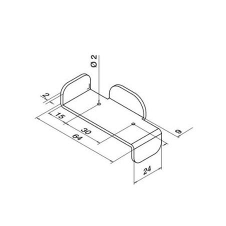 Plano Plantilla para Easy Alu, modelo 0770 - Qrailing