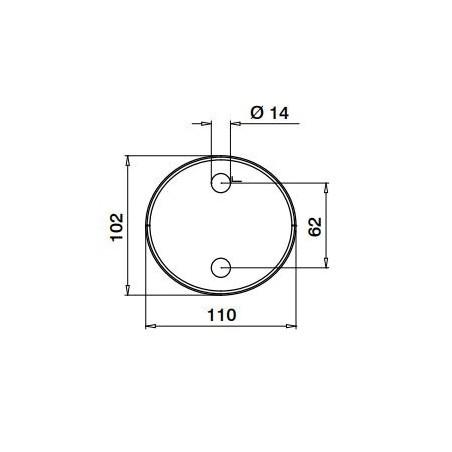 Plano de Pinza para suelo modelo 6400 Acero inoxidable AISI316