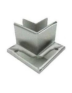 Soporte esquinero Glass U Base fijación externa