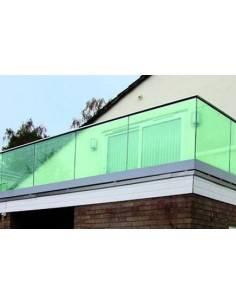 Barandilla de vidrio Glass U Barmet montaje superior
