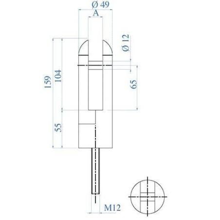 Medidas Barandilla Design apoyo a la planta de vidrio redondeado