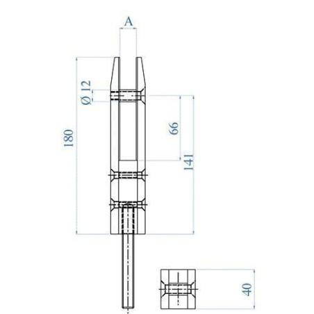 Medidas Barandilla Design pinza cuadrada de planta para vidrio para falcar