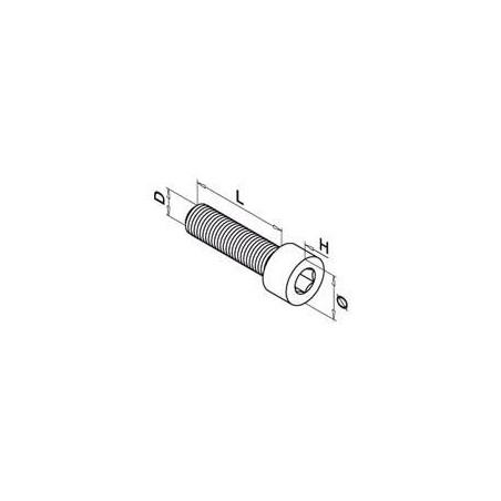 Medidas Tornillo de cabeza cilíndrica con hueco hex.QS-26 M8x20mm