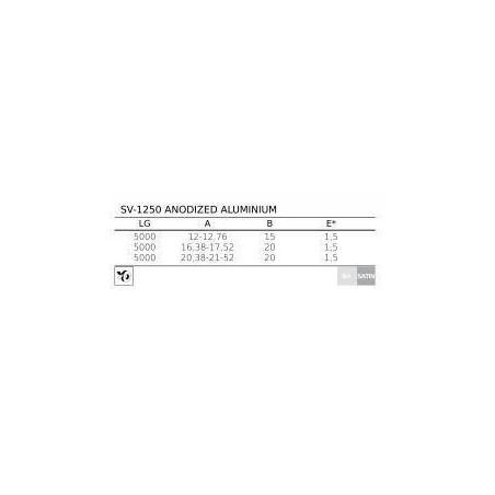 Perfil de aluminio en forma de U SA-1250 opciones