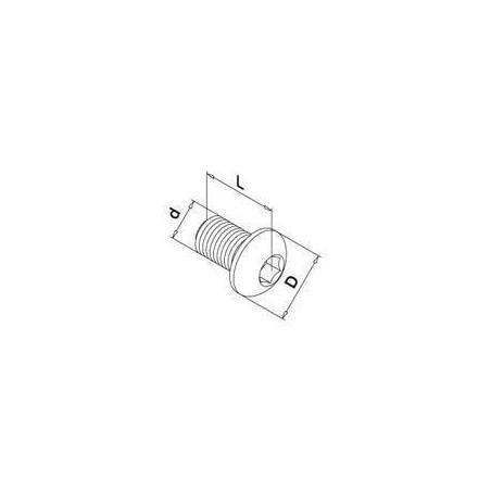 Medidas Tornillo de cabeza abombada hexagonal QS-11 A4-70