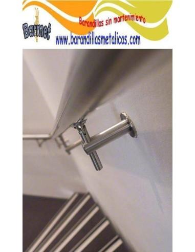 Pasamanos inoxidable redondo Mod.Q145 en Kit - Barmet.es