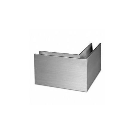 Perfil esquina exterior para barandilla Easy Glass Slim superior