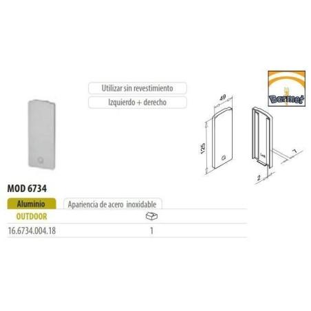 Tapa perfil Easy Glass Slim 6734 Aluminio