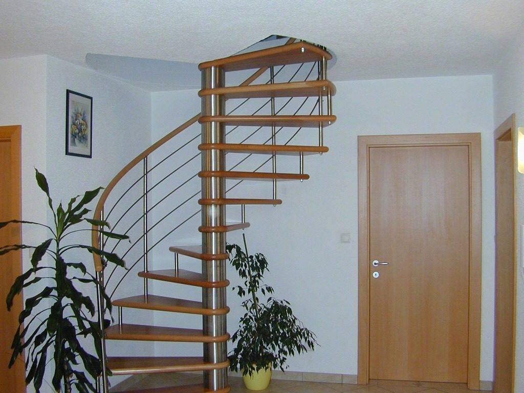 Pasamanos de madera Escalera de caracol Qrailing 1017x58
