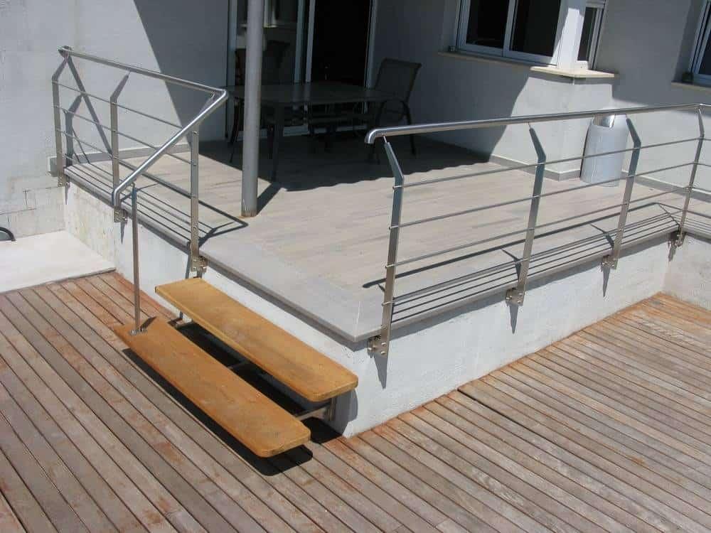 Murcia Inspira - Barandillas de acero inoxidable en kit, una idea perfecta de decoración fácil de instalar