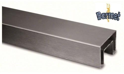 Perfil U cuadrado para vidrio Q-railing